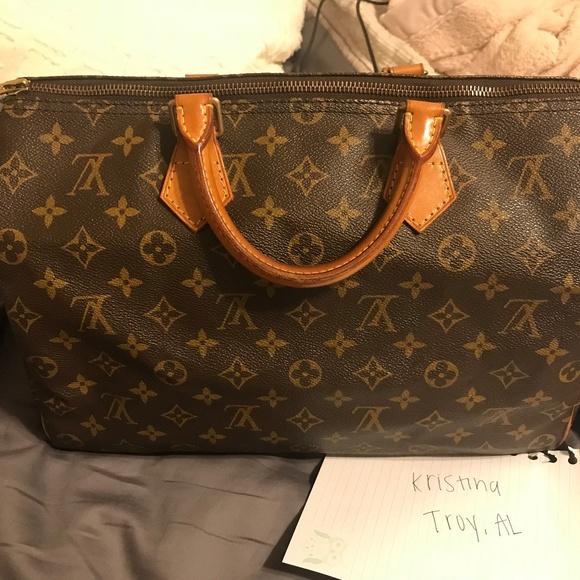 d9ce3cebf0f9 Louis Vuitton Handbags - Louis Vuitton Speedy 35 Monogram Canvas